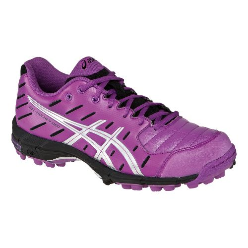 Womens ASICS GEL-Hockey Neo 3 Cross Country Shoe - Violet/Silver 9.5