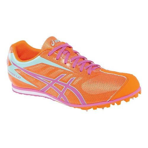 Womens ASICS Hyper LD 5 Track and Field Shoe - Mango/Pink 10.5