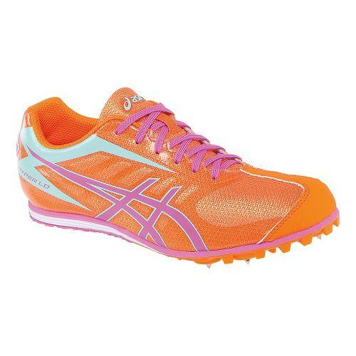 Womens ASICS Hyper LD 5 Track and Field Shoe - Mango/Pink 7