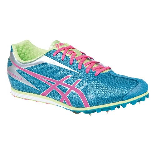 Womens ASICS Hyper LD 5 Track and Field Shoe - Enamel Blue/Hot Pink 7.5