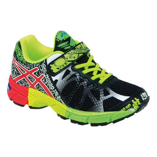 Kids ASICS GEL-Noosa Tri 9 PS Running Shoe - Black/Flash Yellow 1.5