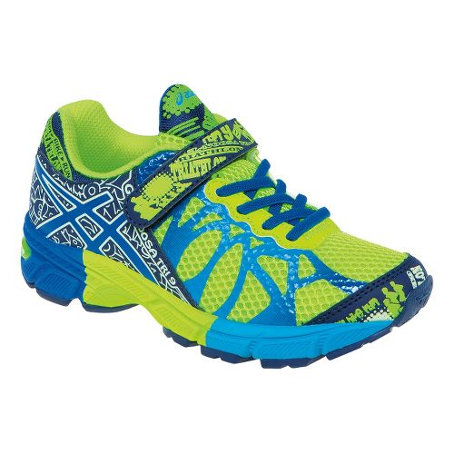 Kids ASICS GEL-Noosa Tri 9 PS Running Shoe - Flash Yellow/Royal 1.5