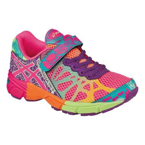 Kids ASICS GEL-Noosa Tri 9 PS Running Shoe - Hot Pink/Neon Purple 11