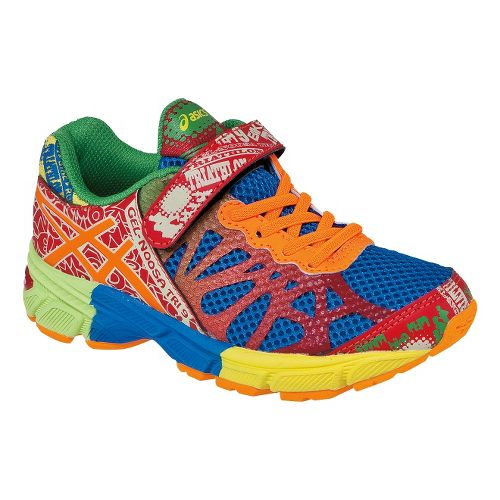 Kids ASICS GEL-Noosa Tri 9 PS Running Shoe - Royal/Flash Orange 3