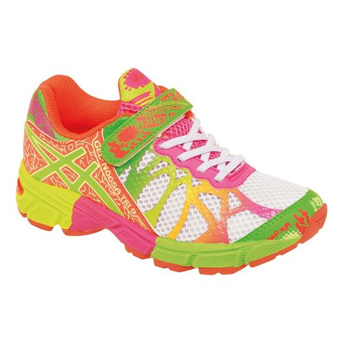 Kids ASICS GEL-Noosa Tri 9 PS Running Shoe - White/Lime 1.5