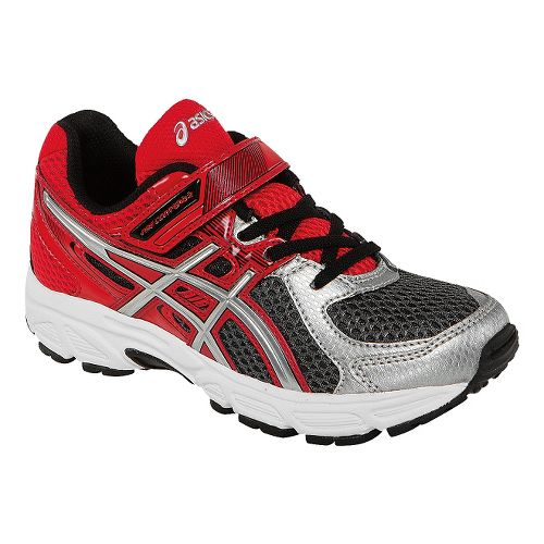 Kids ASICS PRE-Contend 2 PS Running Shoe - Carbon/Red 12