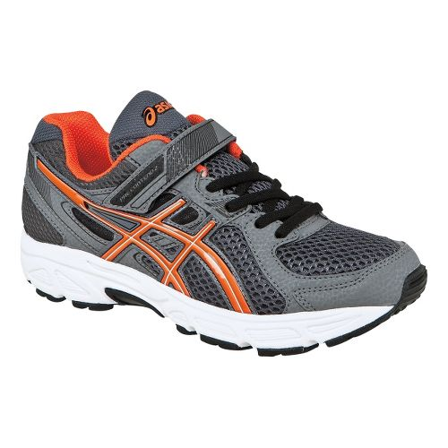 Kids ASICS PRE-Contend 2 PS Running Shoe - Carbon/Orange Flame 12