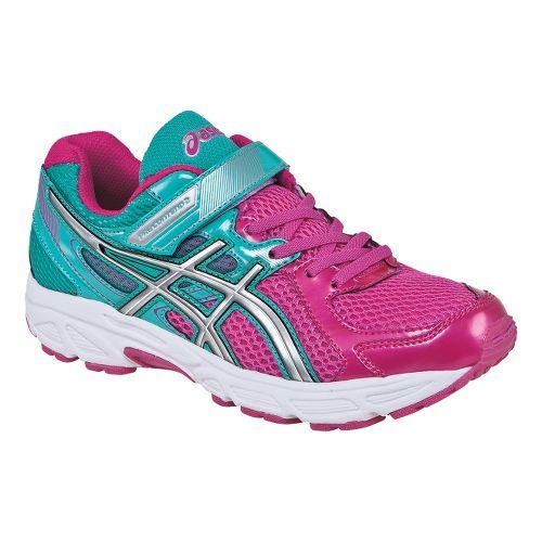 Kids ASICS PRE-Contend 2 PS Running Shoe - Hot Pink/Lightning 3