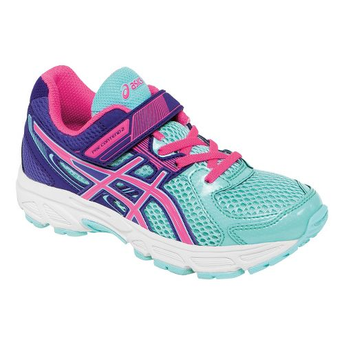 Kids ASICS PRE-Contend 2 PS Running Shoe - Ice Blue/Hot Pink 1.5