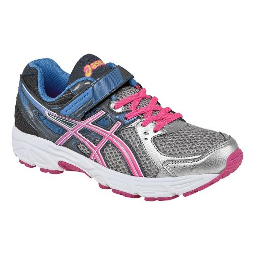 Kids ASICS PRE-Contend 2 PS Running Shoe - Lightning/Hot Pink 10