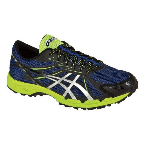 Mens ASICS GEL-FujiRacer 3 Trail Running Shoe - Navy/Silver 10.5