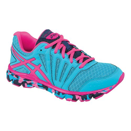 Kids ASICS GEL-Lyte33 2 GS Running Shoe - Blue Atoll/Hot Pink 7