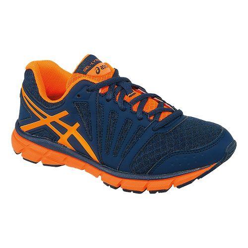 Kids ASICS GEL-Lyte33 2 GS Running Shoe - Deep Blue/Hot Orange 5