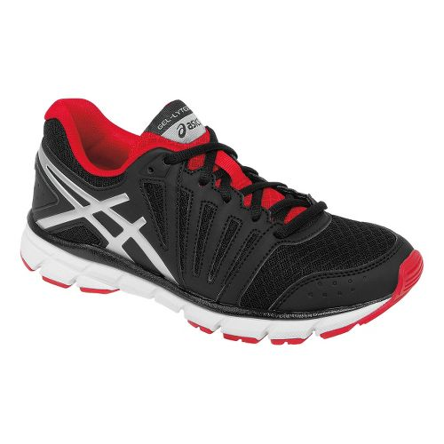 Kids ASICS GEL-Lyte33 2 GS Running Shoe - Black/Red 6.5