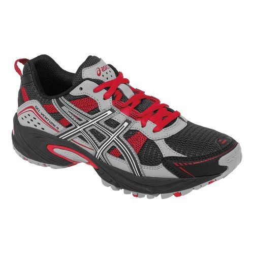 Kids ASICS GEL-Venture 4 GS Trail Running Shoe - Black/Red 1