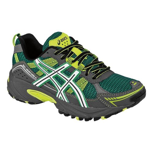 Kids ASICS GEL-Venture 4 GS Trail Running Shoe - Green/White 6.5