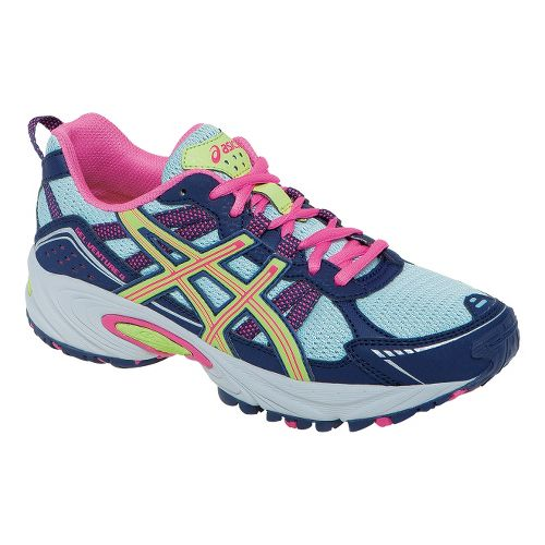 Kids ASICS GEL-Venture 4 GS Trail Running Shoe - Ice Blue/Sharp Green 3.5