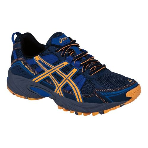 Kids ASICS GEL-Venture 4 GS Trail Running Shoe - Navy/Bright Orange 6
