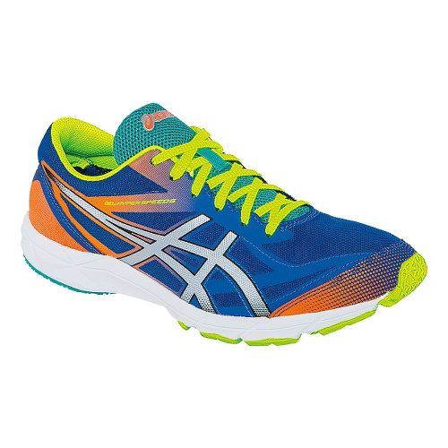 Mens ASICS GEL-Hyper Speed 6 Racing Shoe - Blue/Flash Yellow 6.5