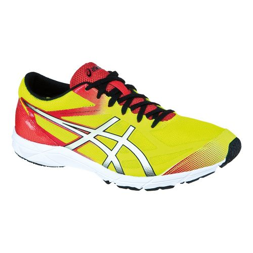 Mens ASICS GEL-Hyper Speed 6 Racing Shoe - Blue/Flash Yellow 12.5