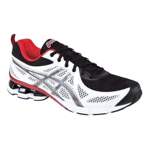 Mens ASICS GEL-Fierce Running Shoe - White/Black 12.5
