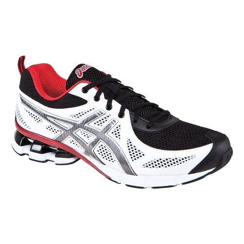 Mens ASICS GEL-Fierce Running Shoe - White/Black 9.5