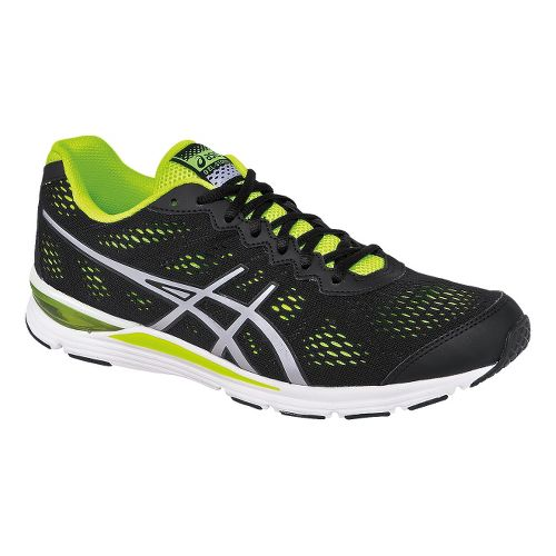 Mens ASICS GEL-Storm 2 Running Shoe - Black/Silver 14