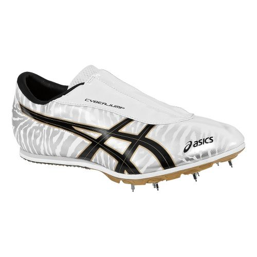 ASICS Cyber Jump London Track and Field Shoe - White/Gold 9.5