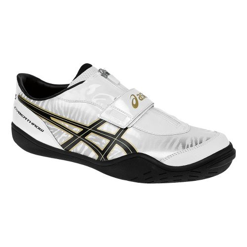 ASICS Cyber Throw London Track and Field Shoe - White/Gold 6.5
