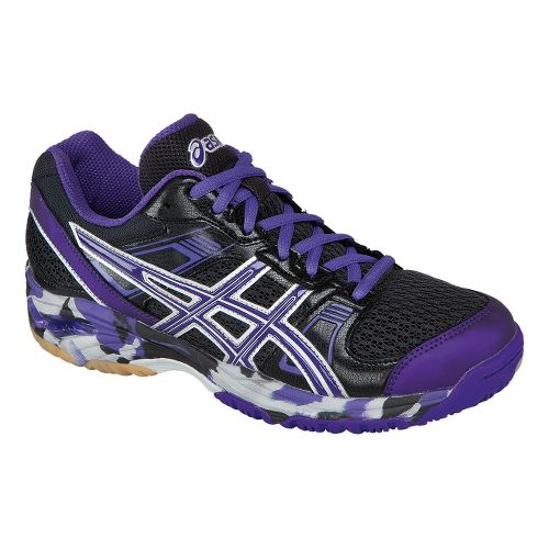Womens ASICS GEL-1140V Court Shoe - Black/Grape 10.5