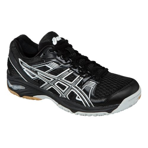 Womens ASICS GEL-1140V Court Shoe - Black/Silver 6.5