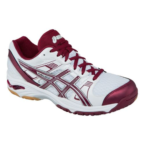 Womens ASICS GEL-1140V Court Shoe - White/Cardinal 10.5