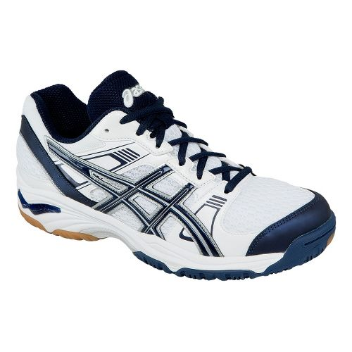 Womens ASICS GEL-1140V Court Shoe - White/Navy 11.5