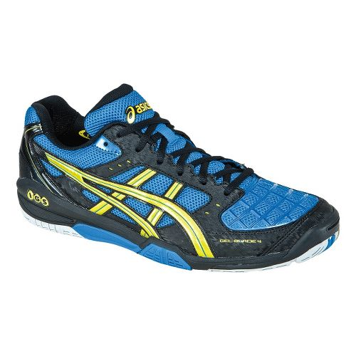 Mens ASICS GEL-Blade 4 Court Shoe - Royal Blue/Yellow 10