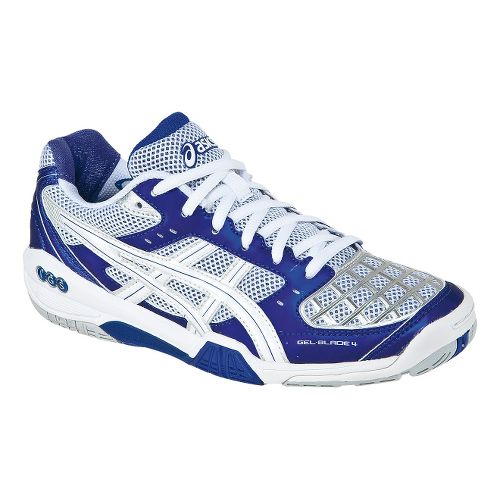 Womens ASICS GEL-Blade 4 Court Shoe - Purple/White 8.5