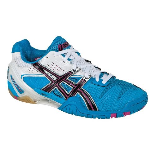 Womens ASICS GEL-Blast 5 Court Shoe - Ocean Blue/Black 11.5