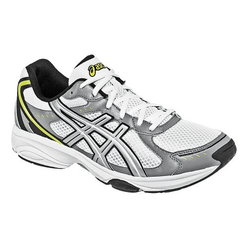 Mens ASICS GEL-Express 4 Cross Training Shoe - White/Silver 12.5