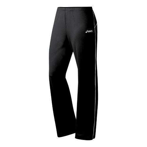 Womens ASICS Alana Full Length Pants - Black/White MT