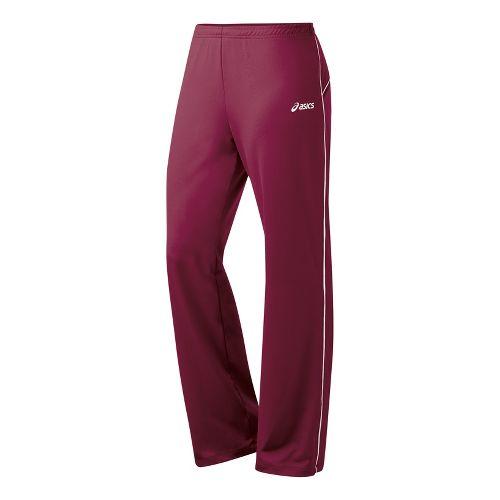 Womens ASICS Alana Full Length Pants - Cardinal/White ST
