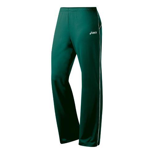 Womens ASICS Alana Full Length Pants - Forest/White ST
