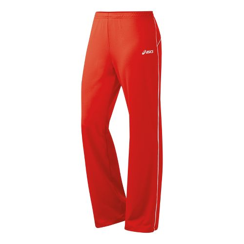 Womens ASICS Alana Full Length Pants - Red/White XL