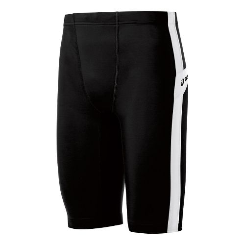 Mens ASICS Anchor Fitted Shorts - Black/White XL