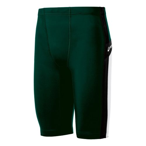 Mens ASICS Anchor Fitted Shorts - Forest/White M