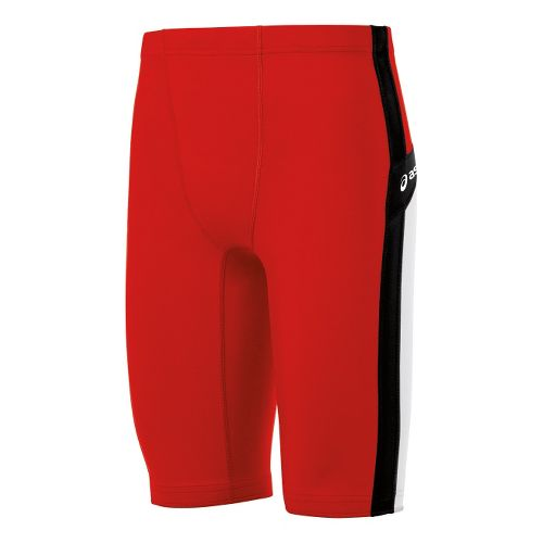 Mens ASICS Anchor Fitted Shorts - Red/White L