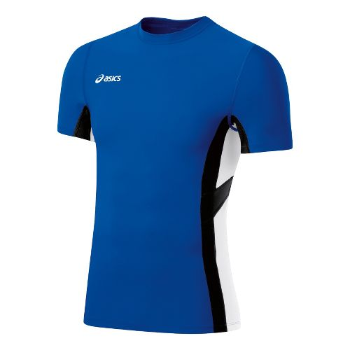 Mens ASICS Anchor Short Sleeve Technical Tops - Royal/White S