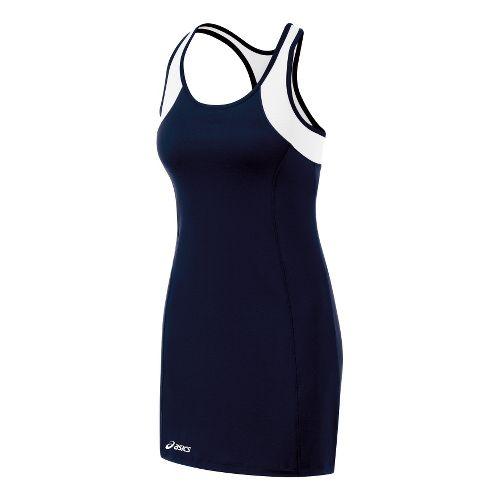 Womens ASICS Love Dress Fitness Skirts - Navy/White M