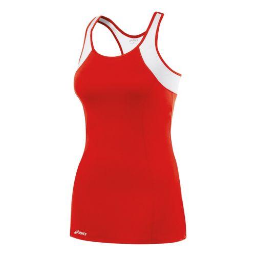Womens ASICS Love Dress Fitness Skirts - Red/White XL