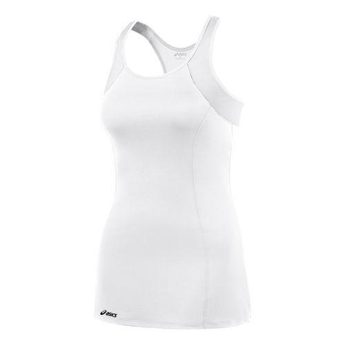 Womens ASICS Love Dress Fitness Skirts - White/White M