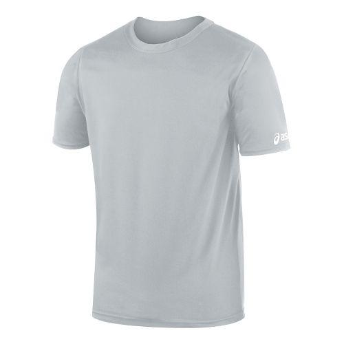 Mens ASICS Circuit-7 Warm Up Shirt Short Sleeve Technical Tops - Athletic Grey S