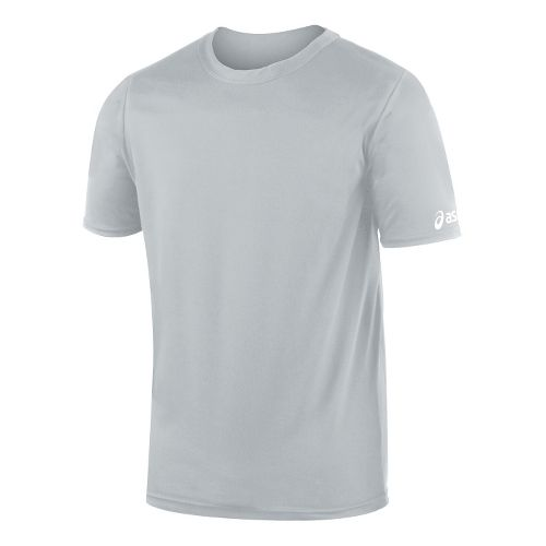 Mens ASICS Circuit-7 Warm Up Shirt Short Sleeve Technical Tops - Athletic Grey XS